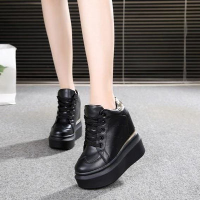 PU Leather Platform Sneakers - as picture / 4 - Womens Sneakers