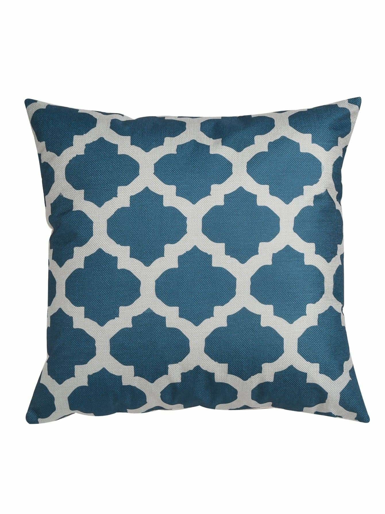 Quatrefoil Print Cushion Cover