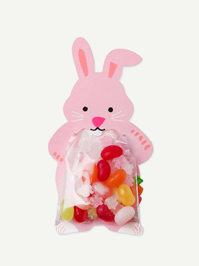 Rabbit Card With Clear Packaging Bag 10Pcs - Bakeware