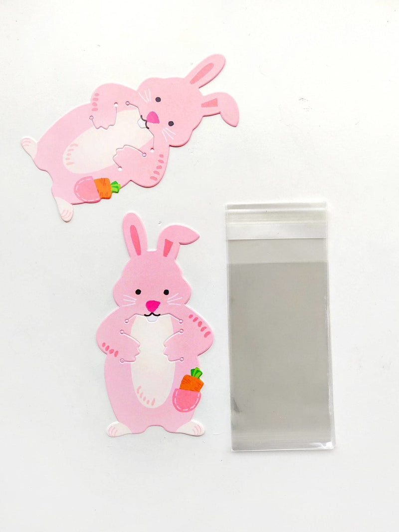 Rabbit Card With Clear Packaging Bag 10pcs
