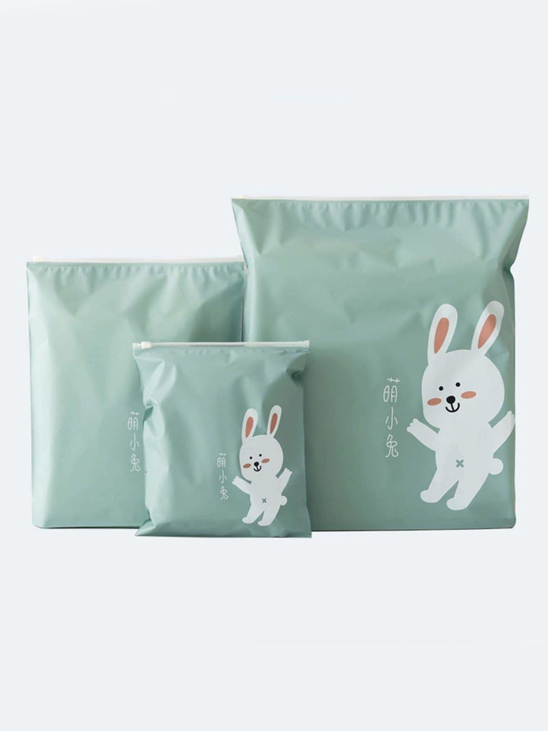 Rabbit Print Travel Storage Bag 3pcs - Storage & Organization