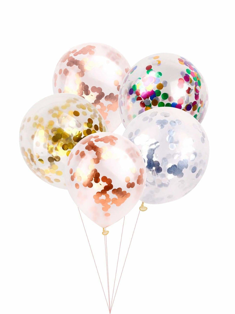 Random Color 12inches Sequin Balloon 5pcs - Holiday Decors