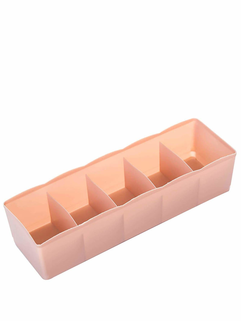 Random Color 5 Compartment Storage Box 1pc - Storage & Organization