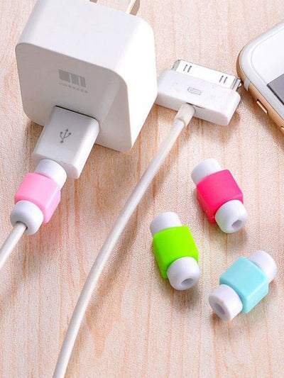 Random Color Charger Cable Protector 5pcs - Storage & Organization