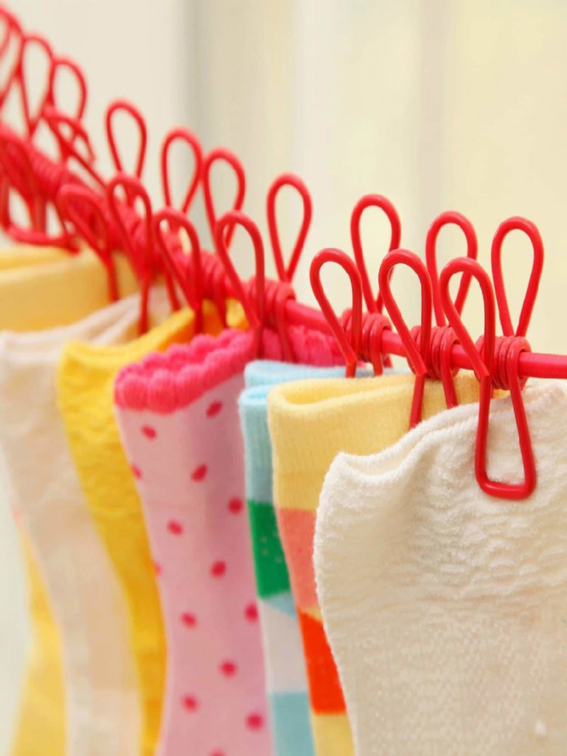 Random Color Clothespins Hanging Hook 1pc - Hangers & Organizers