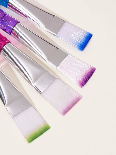 Random Color Glitter Handle Mask Brush 1pc - Makeup Brushes