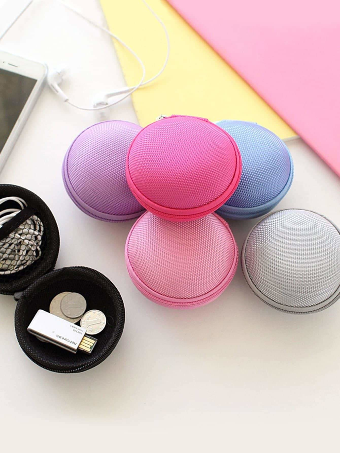 Random Color Headphone Storage Box 1pc