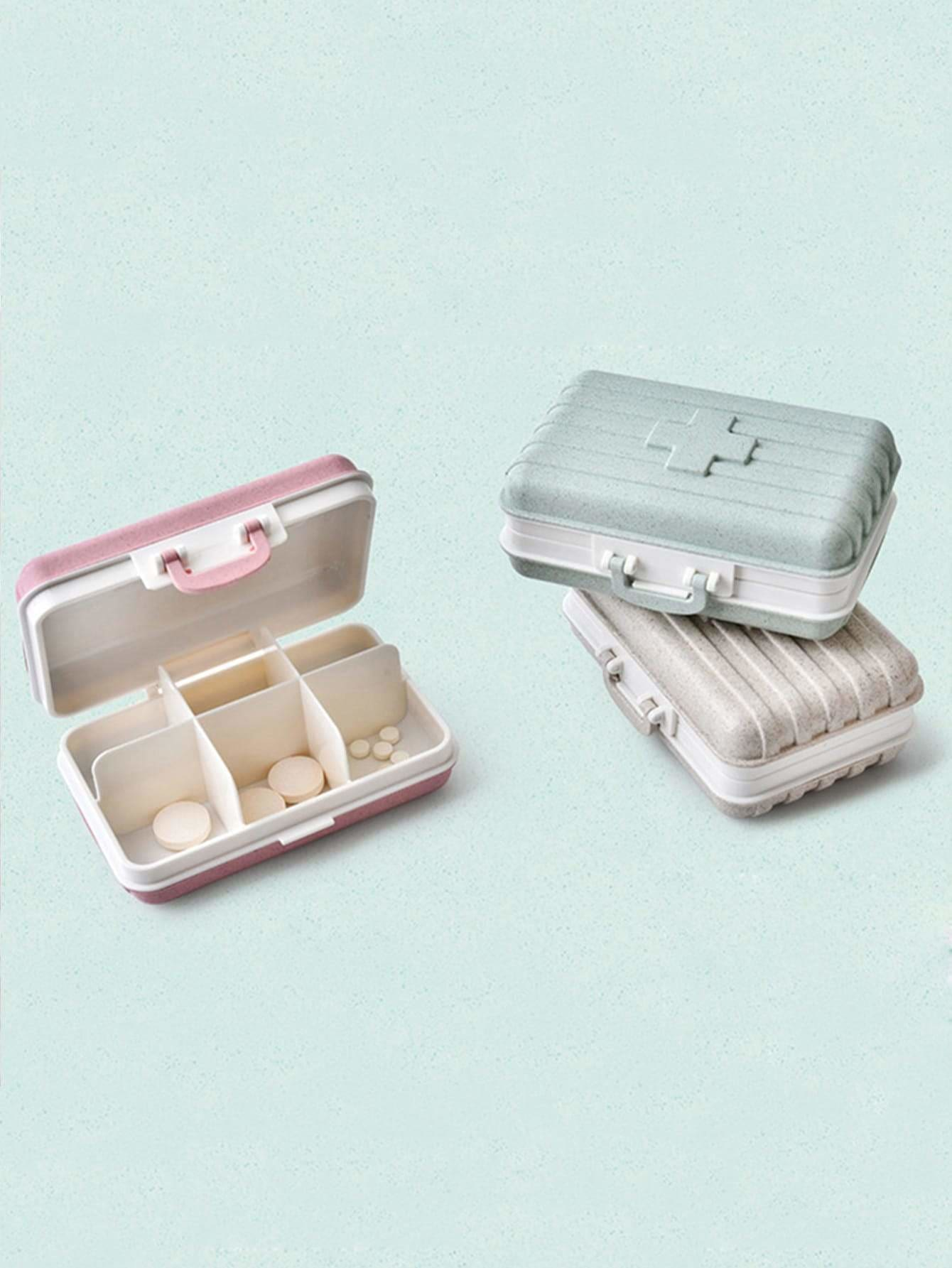 Random Color Medicine Storage Box 1pc - Storage & Organization