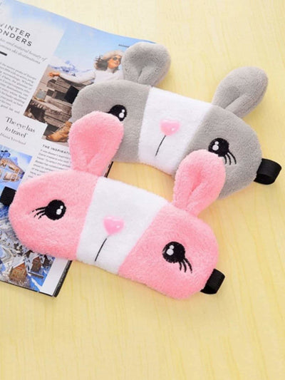 Random Color Rabbit Plush Eye Patch 1pc - Daily Necessities