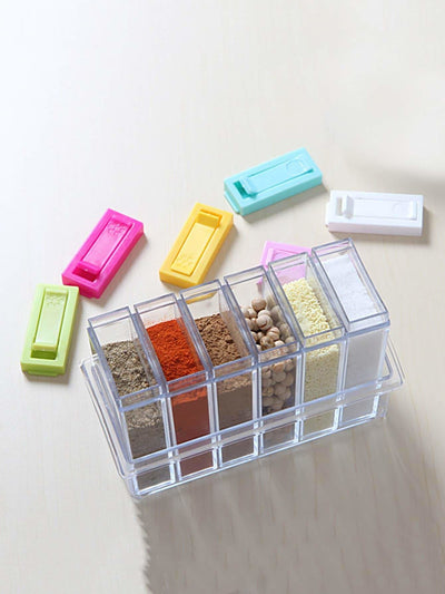 Random Color Seasoning Container With Lid 1Pc