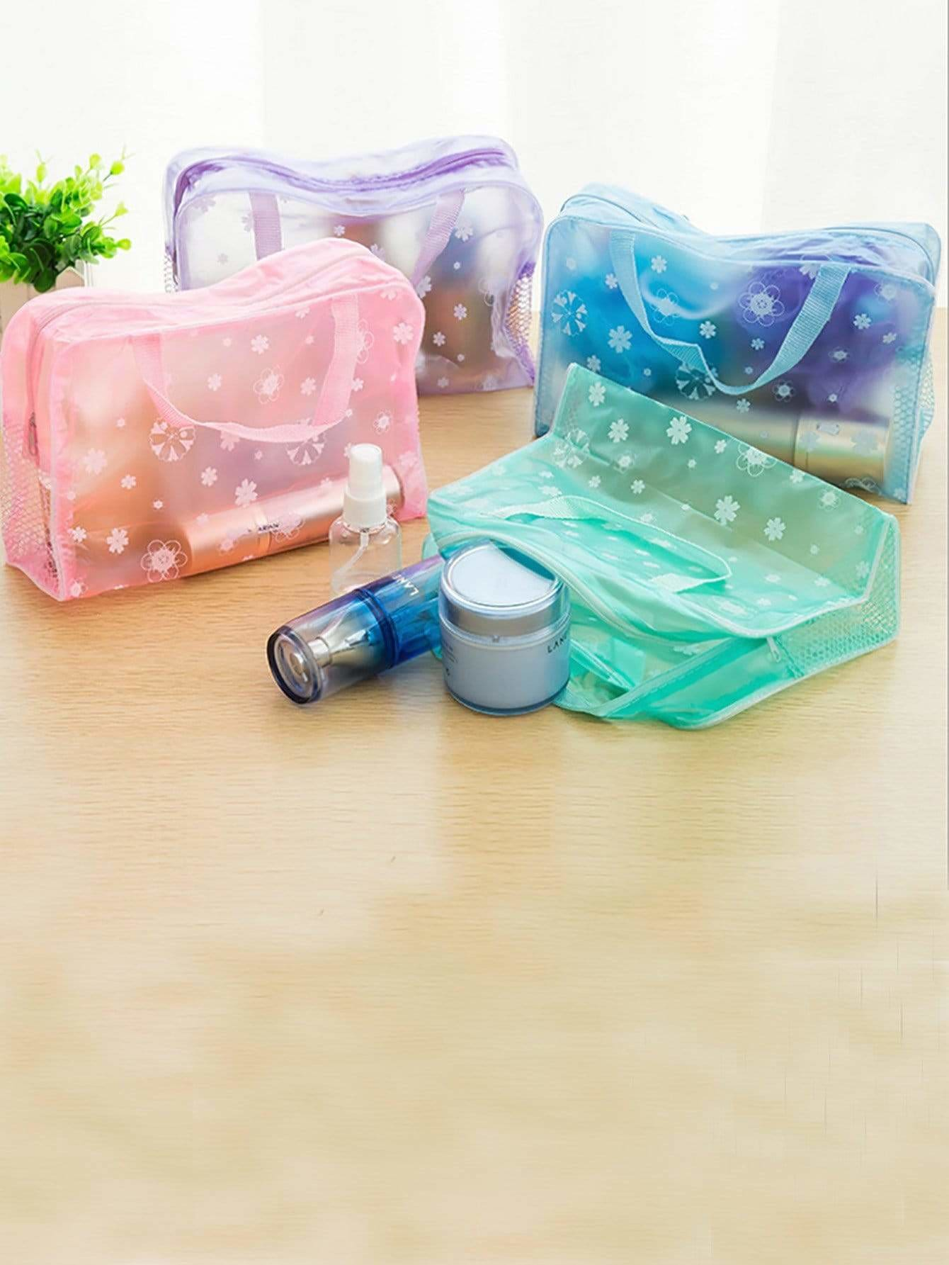 Random Color Zipper Storage Bag 3pcs - Storage & Organization