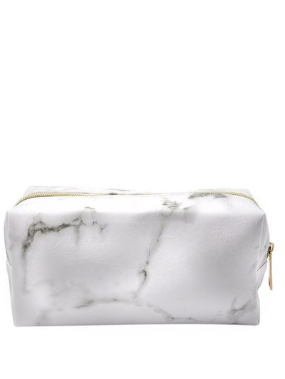 Random Zipper Marble Pattern Makeup Bag - Makeup Bags