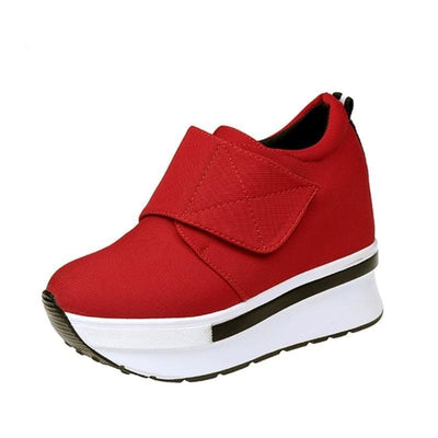 Red Breathable Platform Sneakers - Red / 5 - Womens Sneakers