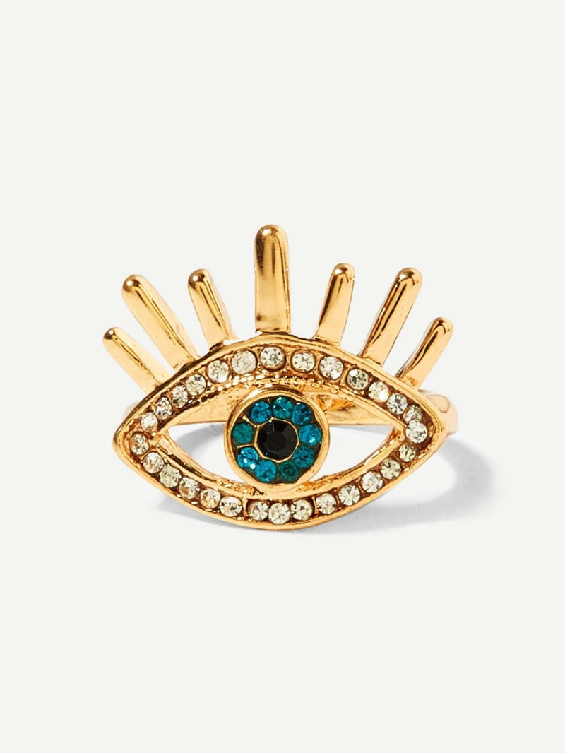 Rhinestone Eye Ring