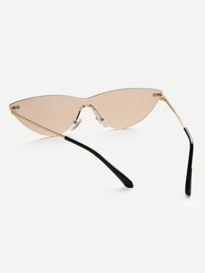 Rimless Tinted Lens Sunglasses - Sunglasses