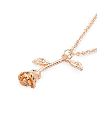 Rose Pendant Link Necklace - Necklaces