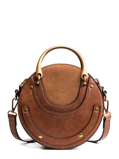 Round Design Pu Shoulder Bag - Womens Bag