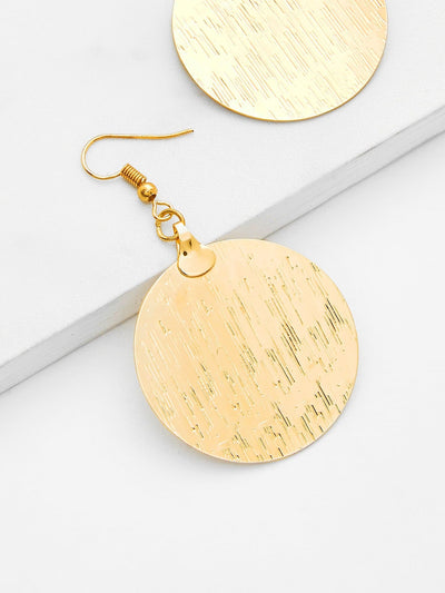 Round Flake Drop Earrings - Earrings