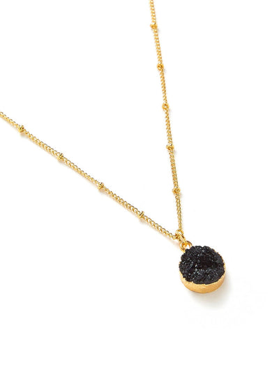 Round Pendant Chain Necklace - Necklaces