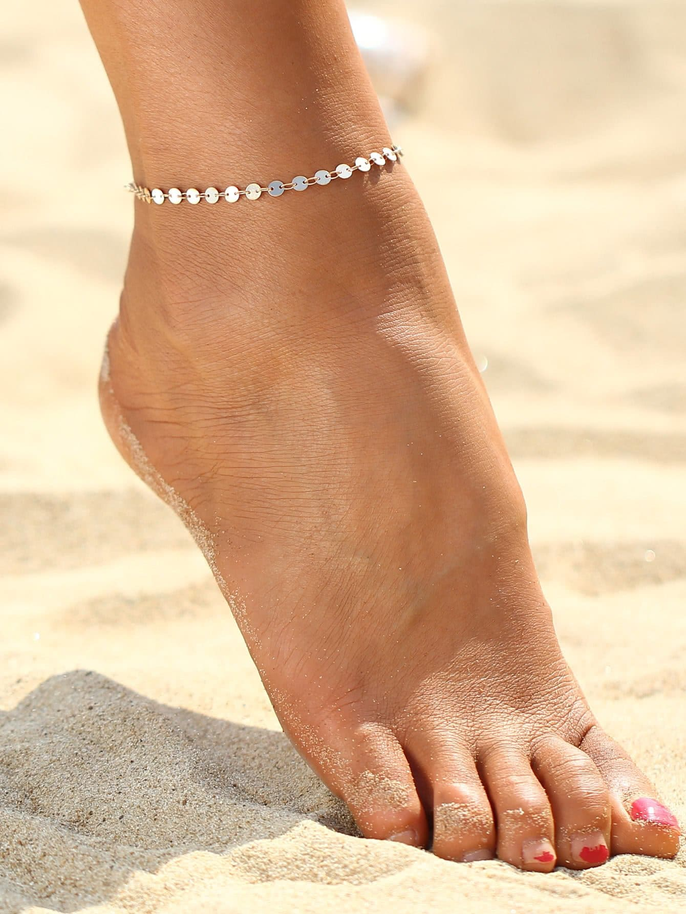 Sequin Design Chain Anklet Body Jewelry