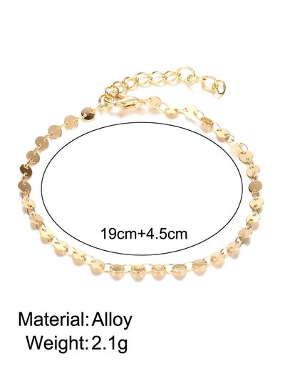 Sequin Design Chain Anklet Body Jewelry - Body Jewelry