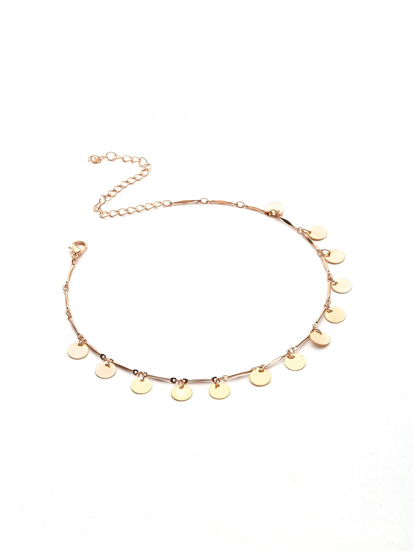Sequin Embellished Chain Choker - Necklaces