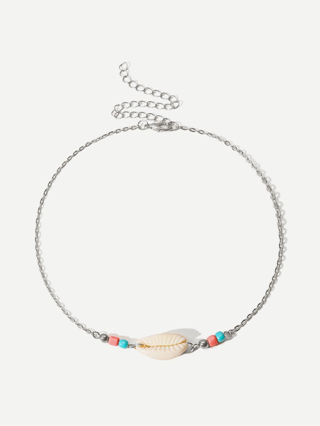 6b27ffcf05 Shell Detail Chain Choker - Necklaces