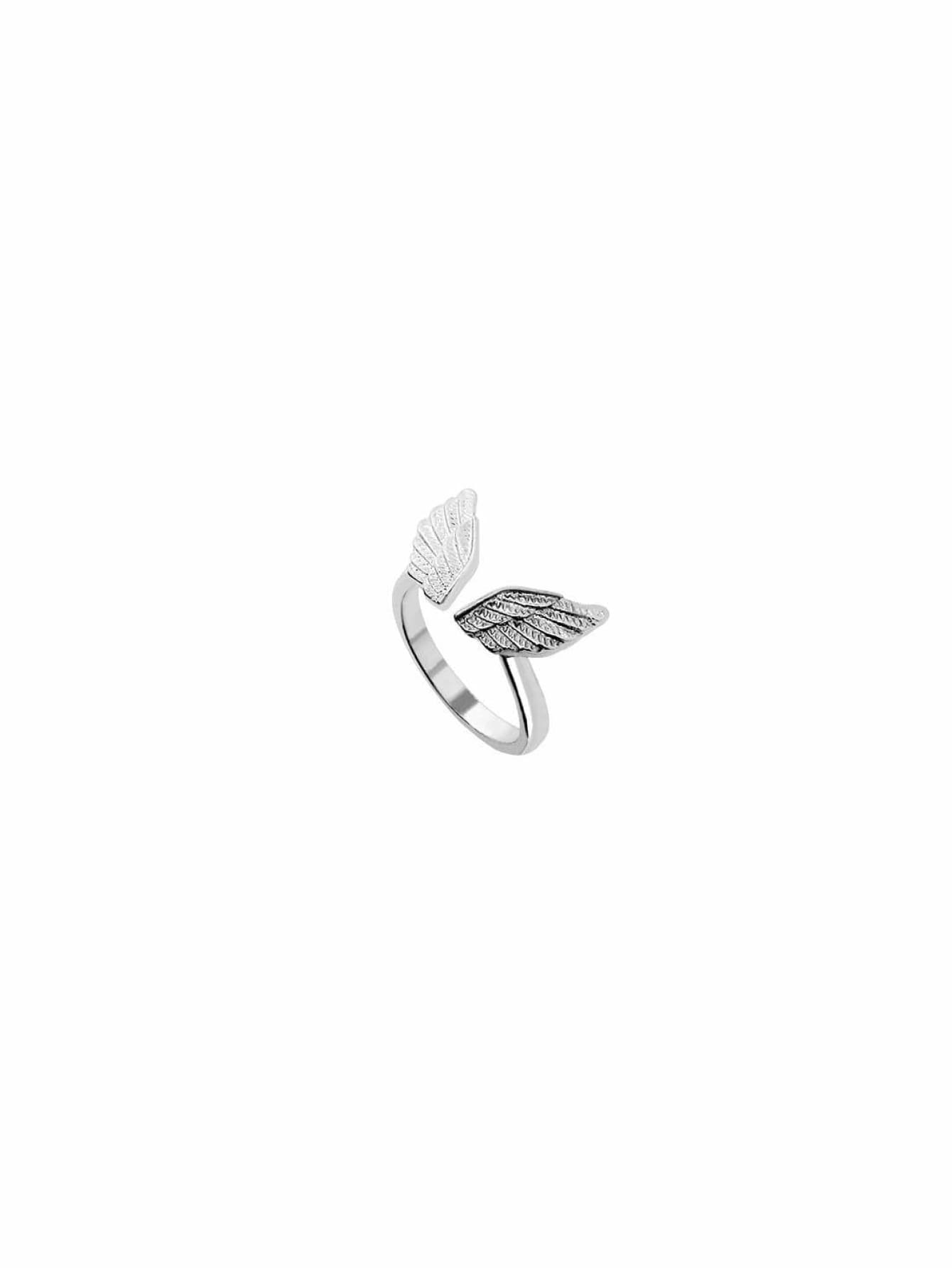 Silver Plated Wings Ring - Rings
