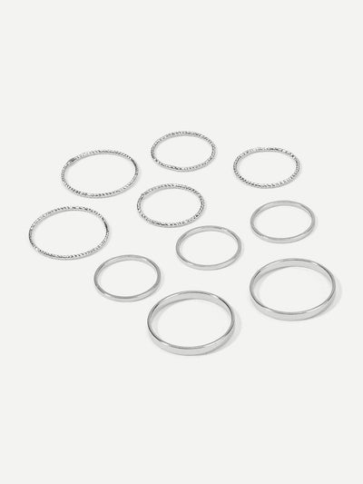 Slim Ring Set 10Pcs - Rings