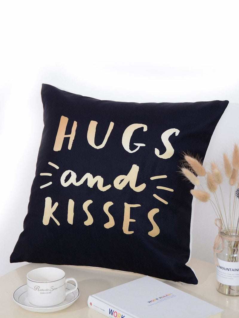 Slogan Print Pillowcase