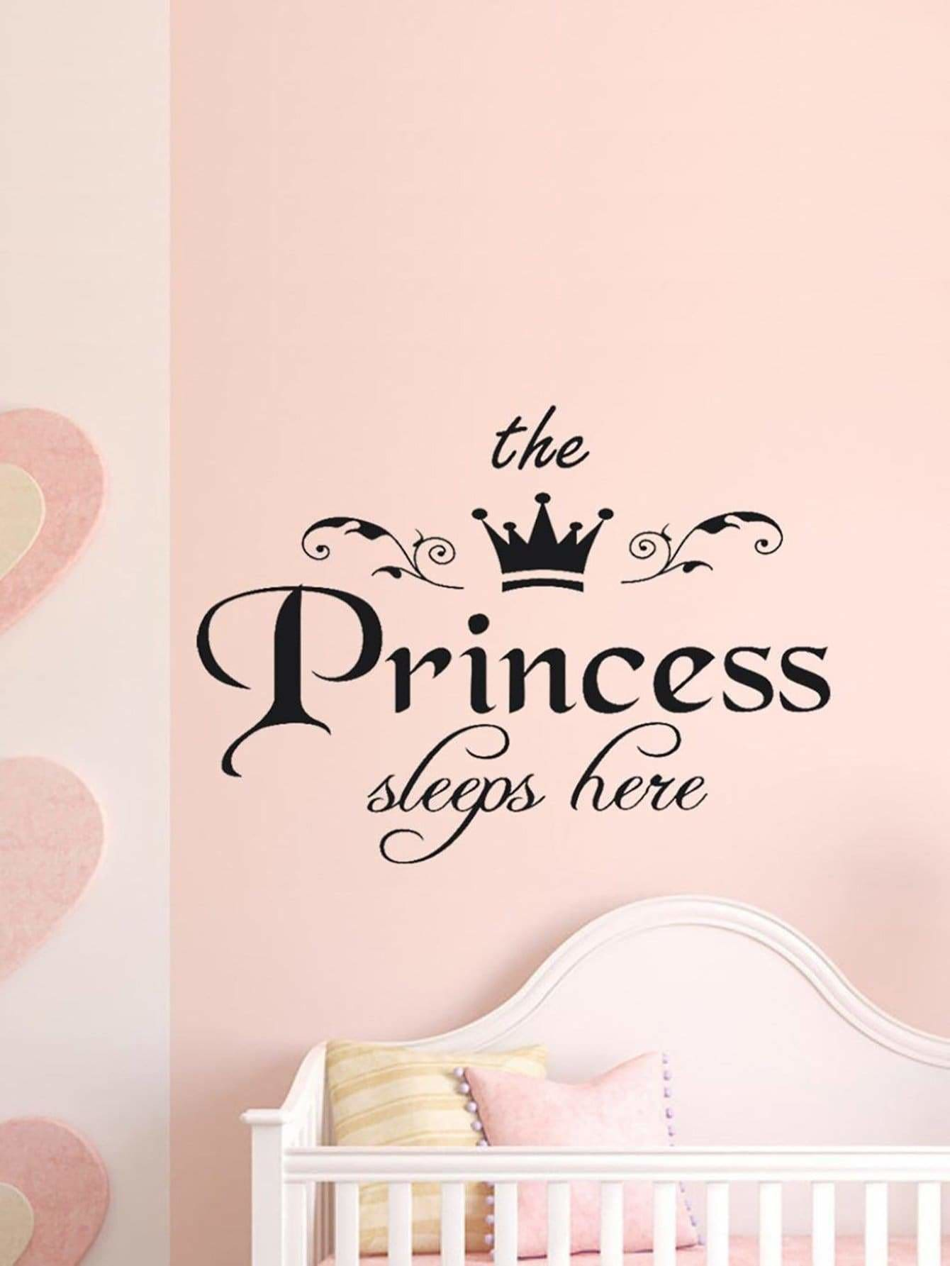Slogan Print Wall Sticker - Wall Art