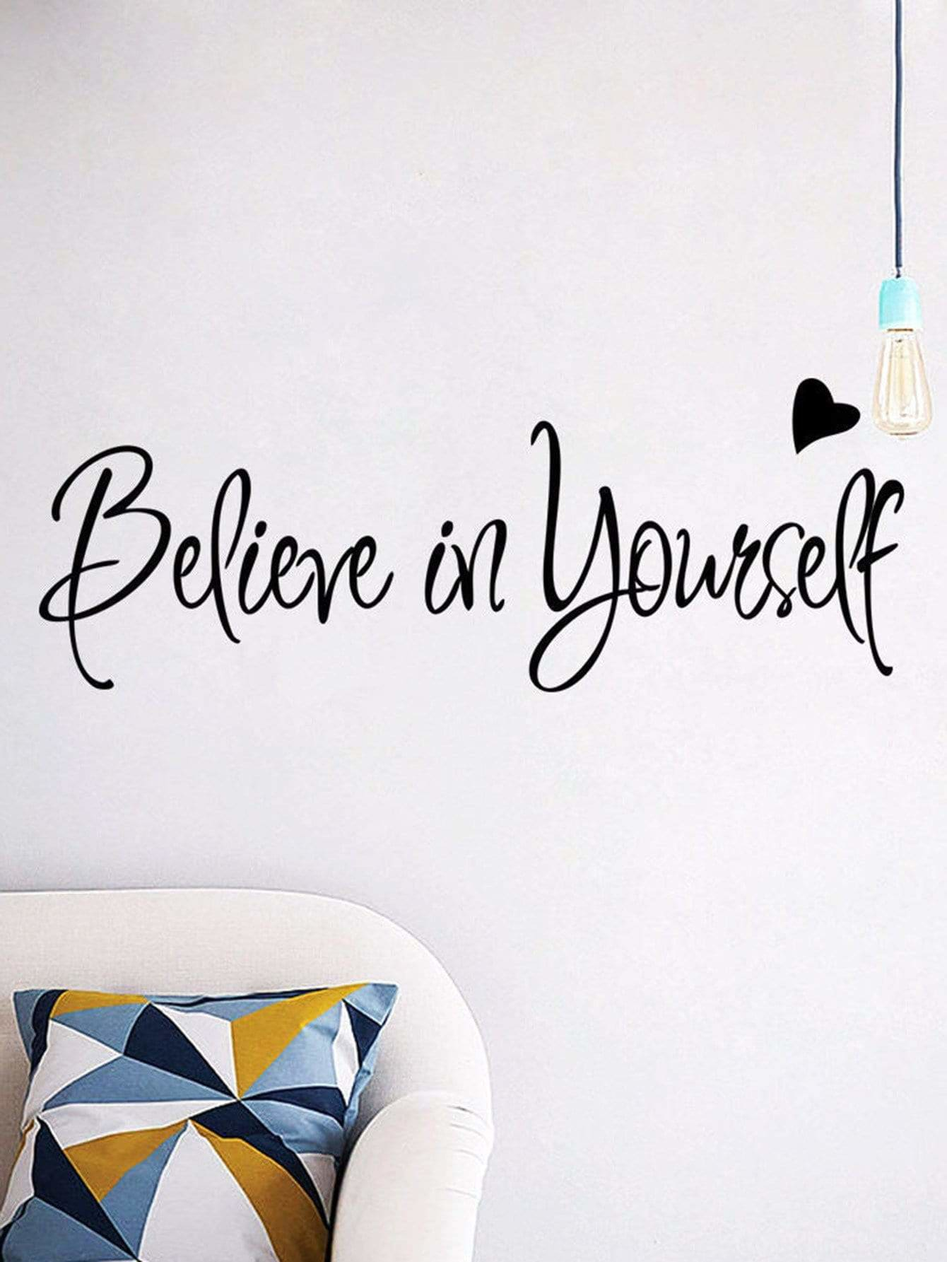 Slogan Wall Decal - Wall Art