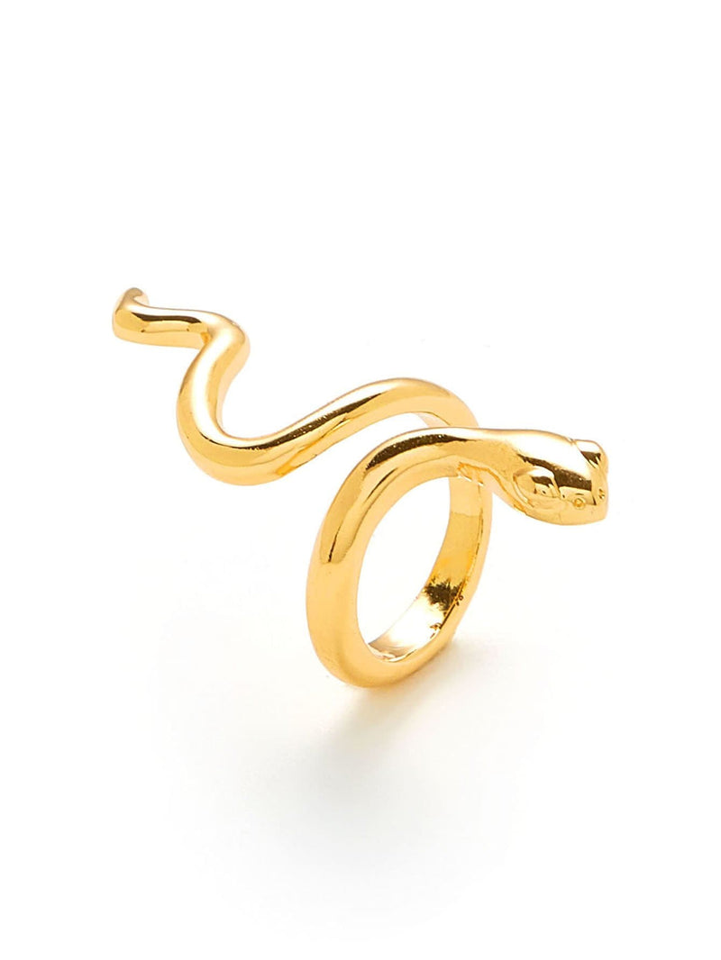 Smooth Snake Design Ring - Rings