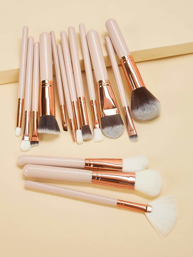 Soft Makeup Brush With Case 16Pcs - Makeup Brushes