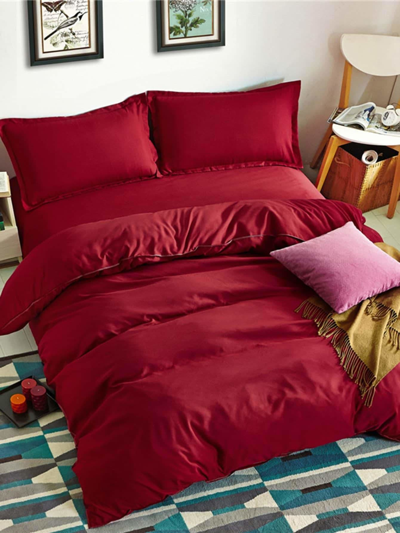 Solid Color Duvet Cover Set - Bedding Sets