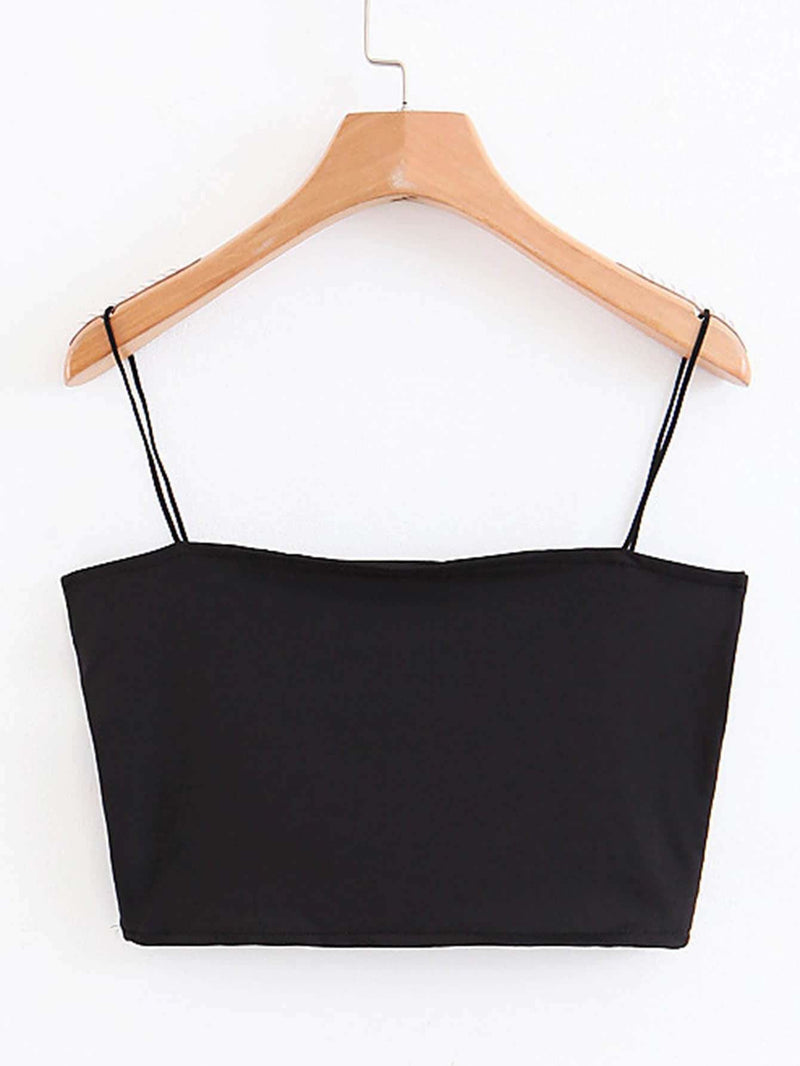 Solid Crop Cami Top