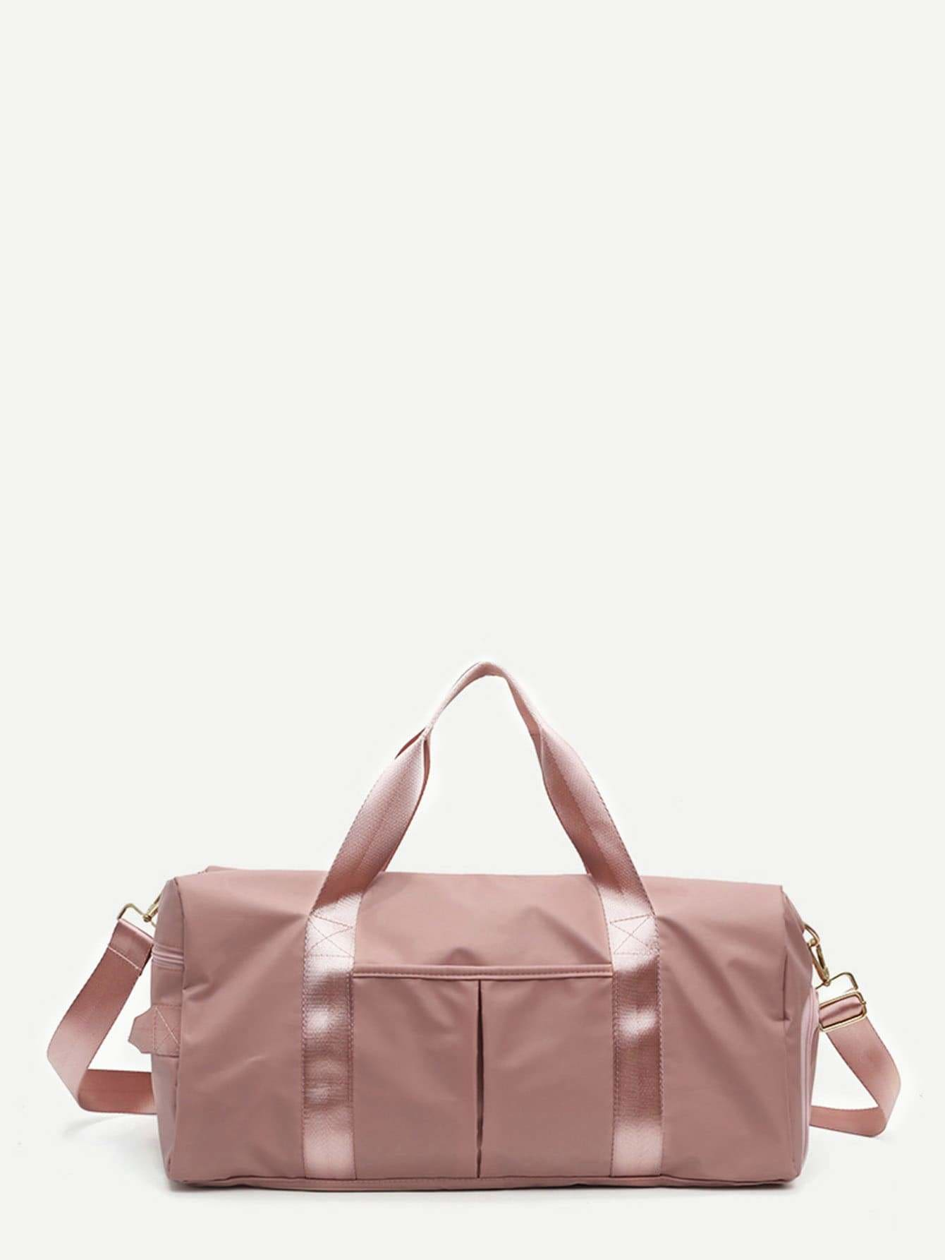 Solid Nylon Duffle Bag - Womens Bag