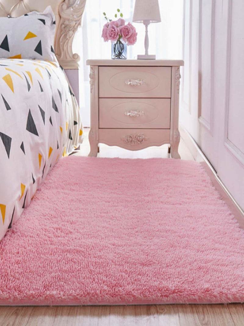 Solid Plush Bed Room Rug - Rugs & Mats