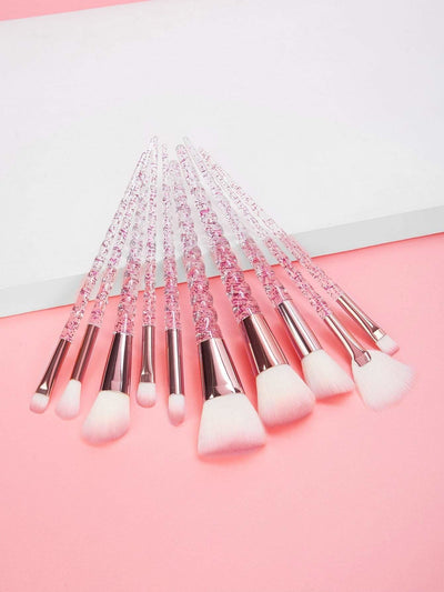 Spiral Handle Makeup Brush 10Pcs - Makeup Brushes