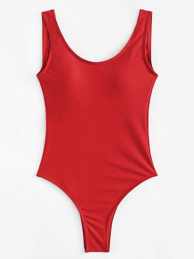 Square Neck One-Piece Swimwear - One Piece Swimwear