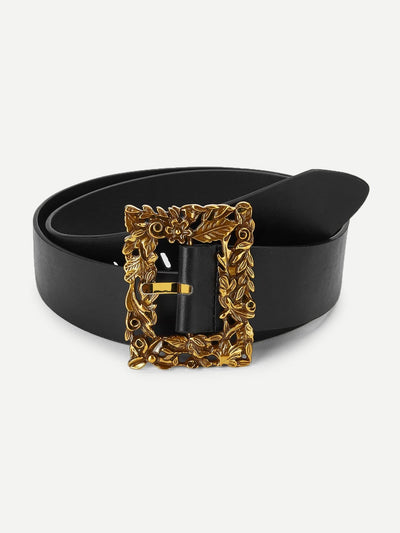 Square Western Buckle Belt - Belts