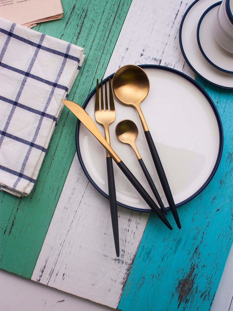 Stainless Steel Cutlery Set 4Pcs - One-Size / One Color - Dining