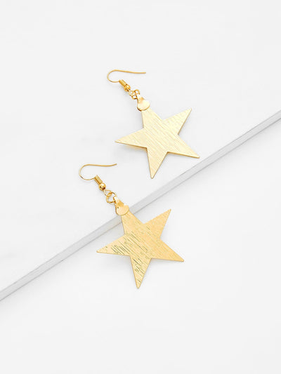 Star Design Drop Earrings - Earrings
