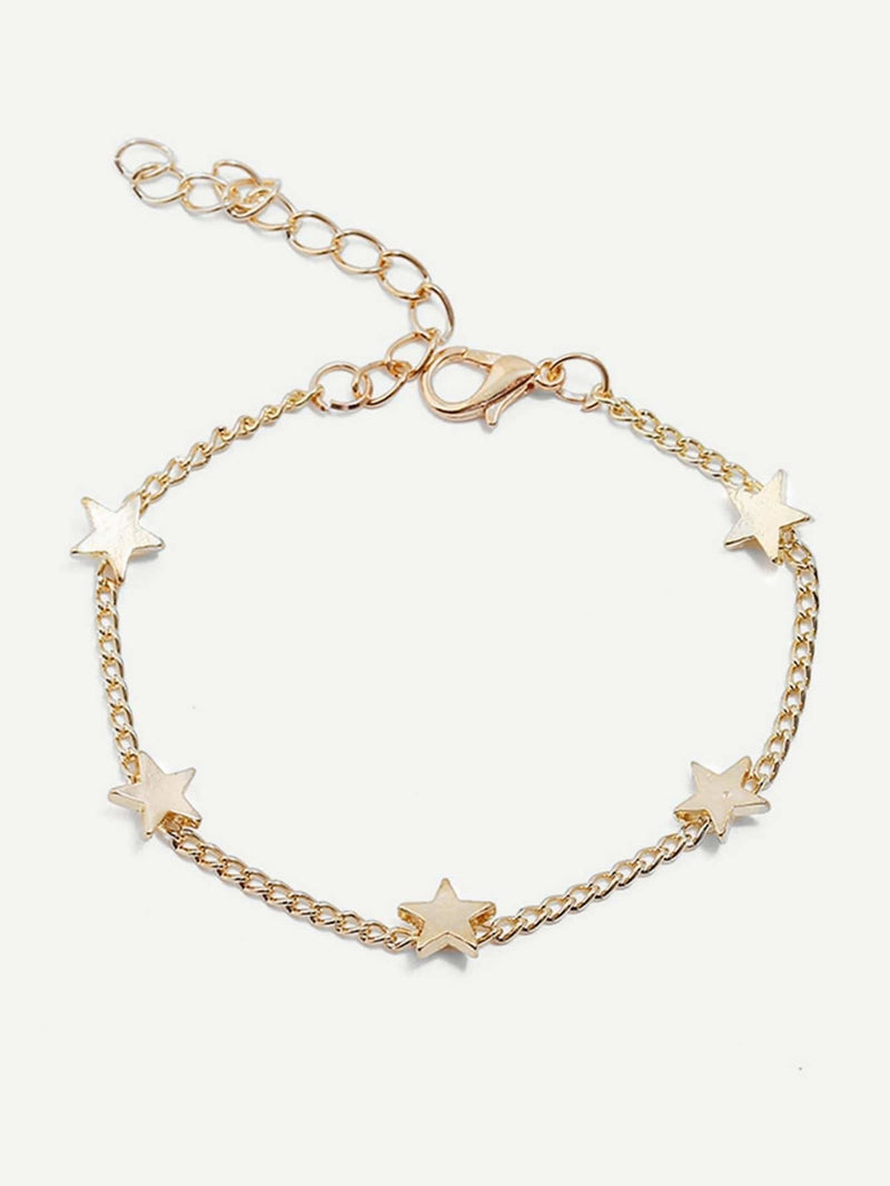 Star Detail Chain Bracelet