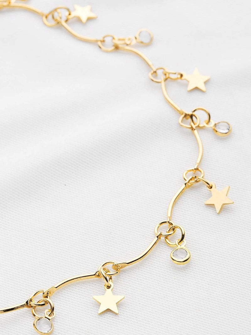 Star Detail Choker Necklace - Necklaces