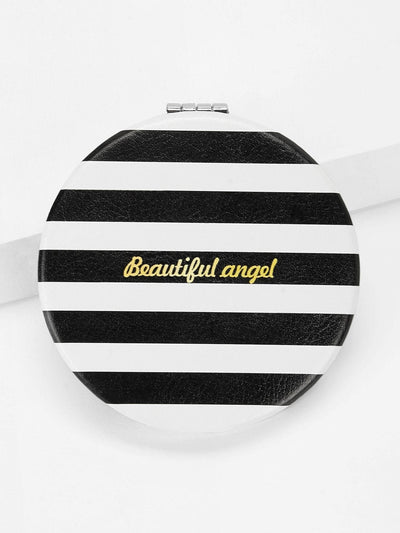 Striped Circle Mirror - Beauty Tools