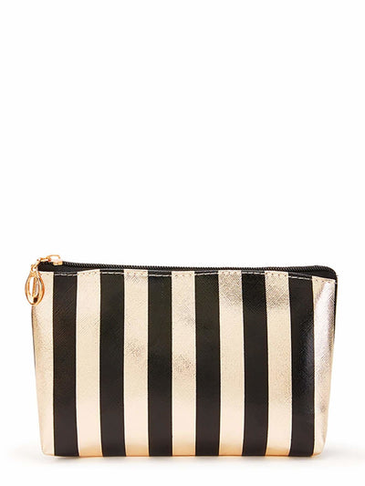Striped Combination Makeup Bag 3Pcs - Makeup Bags