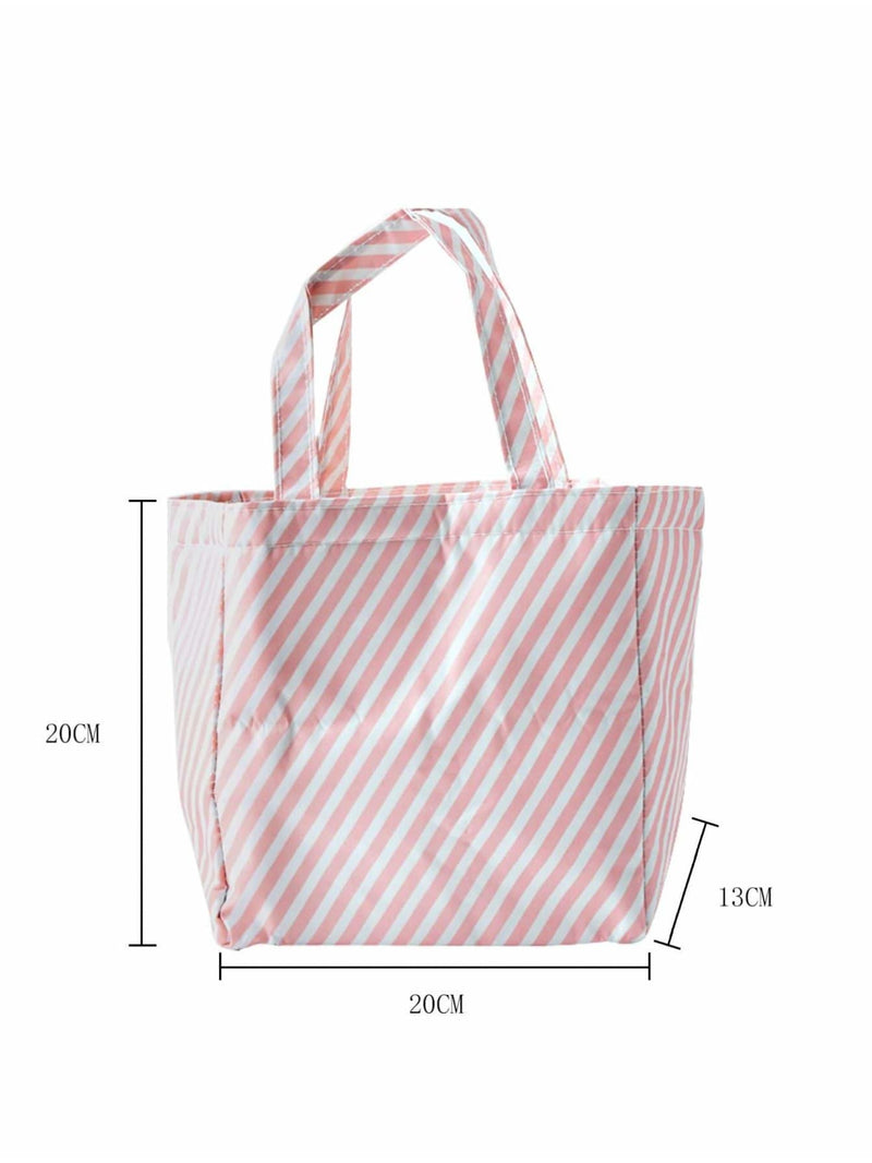 Striped Drawstring Lunch Storage Bag - Storage & Organization