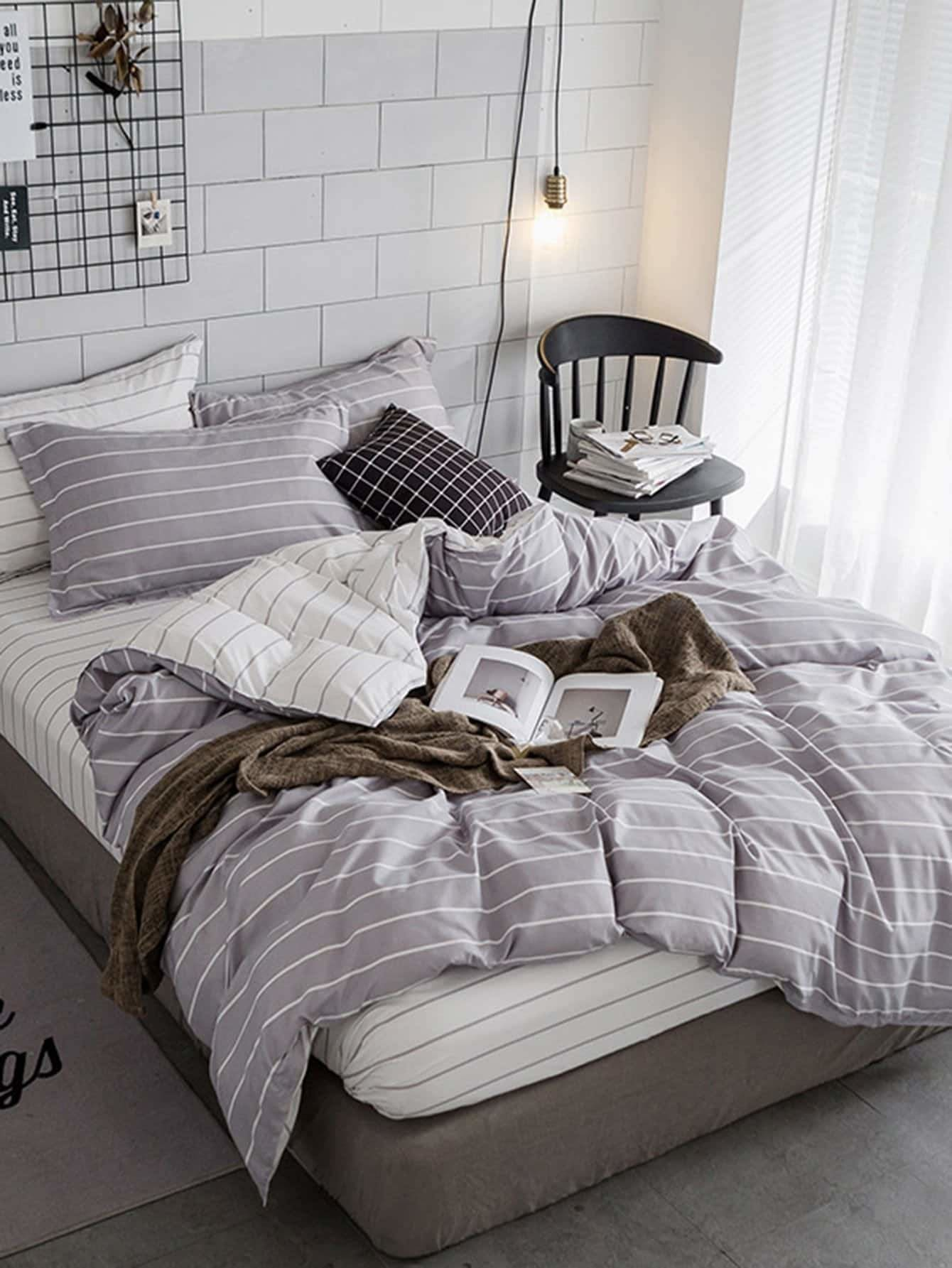 Striped Print Sheet Set - Bedding Sets