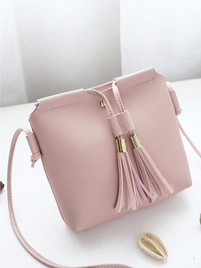 Tassel Detail Crossbody Bag - Womens Bag